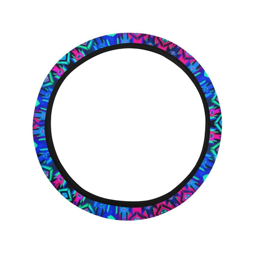 Adobe Sunset Steering Wheel Cover with Elastic Edge Steering Wheel Cover with Elastic Edge e-joyer