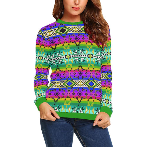 After the Northwest Rain All Over Print Crewneck Sweatshirt for Women (Model H18) Crewneck Sweatshirt for Women (H18) e-joyer