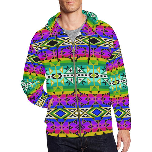 After the Northwest Rain All Over Print Full Zip Hoodie for Men (Model H14) All Over Print Full Zip Hoodie for Men (H14) e-joyer