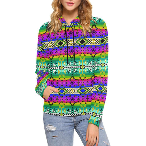 After the Northwest Rain All Over Print Hoodie for Women (USA Size) (Model H13) All Over Print Hoodie for Women (H13) e-joyer