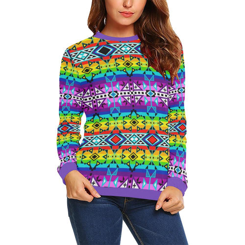 After the Rain All Over Print Crewneck Sweatshirt for Women (Model H18) Crewneck Sweatshirt for Women (H18) e-joyer