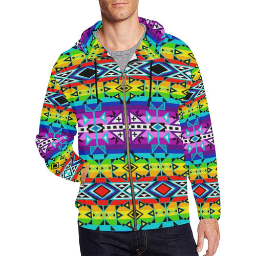 After the Rain All Over Print Full Zip Hoodie for Men (Model H14) All Over Print Full Zip Hoodie for Men (H14) e-joyer