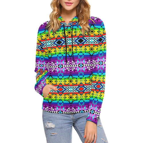 After the Rain All Over Print Hoodie for Women (USA Size) (Model H13) All Over Print Hoodie for Women (H13) e-joyer