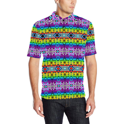 After the Rain Men's All Over Print Polo Shirt (Model T55) Men's Polo Shirt (Model T55) e-joyer