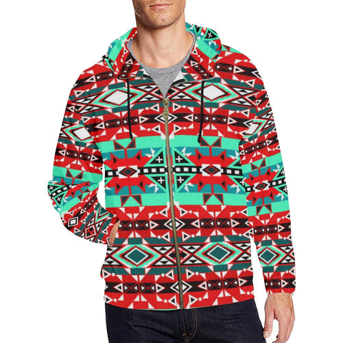After the Southwest Rain All Over Print Full Zip Hoodie for Men (Model H14) All Over Print Full Zip Hoodie for Men (H14) e-joyer