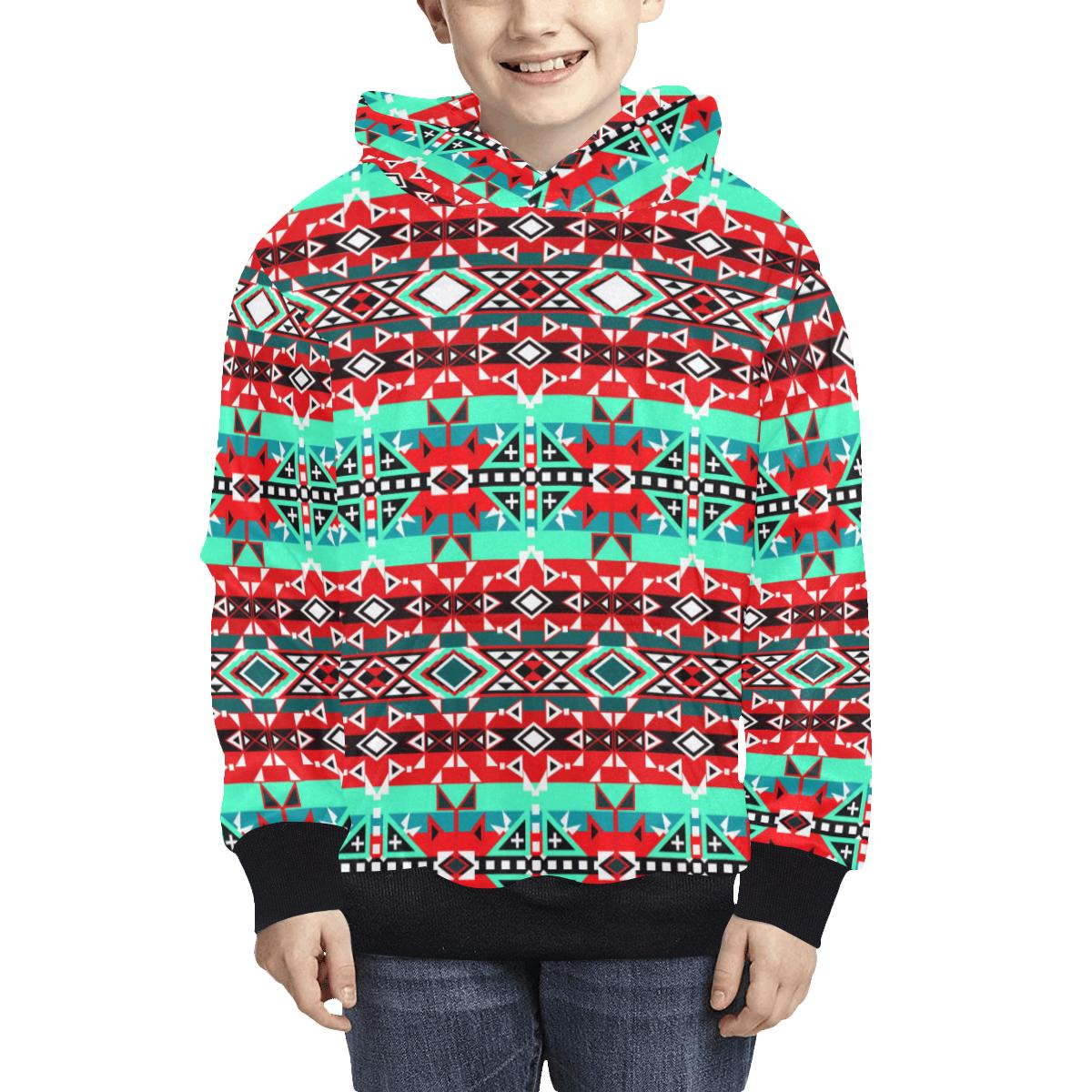 After the Southwest Rain Kids' All Over Print Hoodie (Model H38) Kids' AOP Hoodie (H38) e-joyer