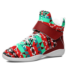 After the Southwest Rain Kid's Ipottaa Basketball / Sport High Top Shoes 49 Dzine US Child 12.5 / EUR 30 White Sole with Dark Red Strap
