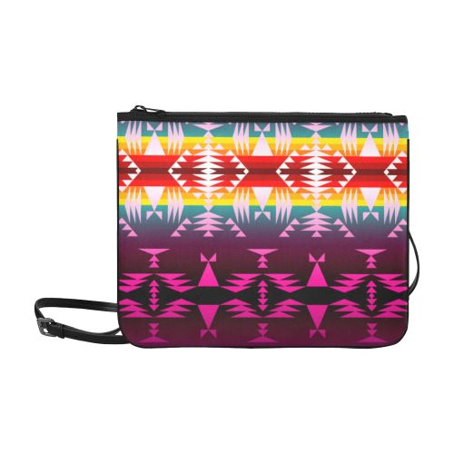 Between the Appalachian Mountains Slim Clutch Bag (Model 1668) Slim Clutch Bags (1668) e-joyer