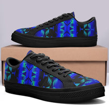 Between the Blue Ridge Mountains Aapisi Low Top Canvas Shoes Black Sole 49 Dzine