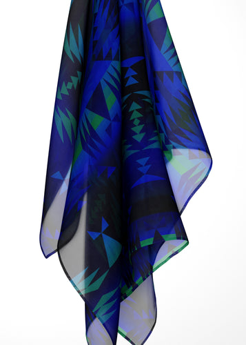 Between the Blue Ridge Mountains Large Square Chiffon Scarf fashion-scarves 49 Dzine