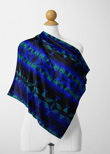 Between the Blue Ridge Mountains Satin Shawl Scarf 49 Dzine