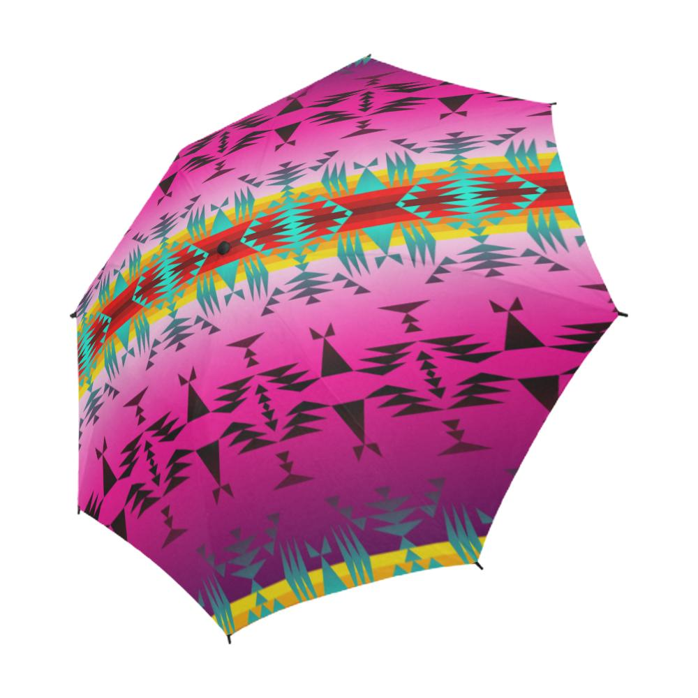 Between the Cascade Mountains Semi-Automatic Foldable Umbrella Semi-Automatic Foldable Umbrella e-joyer