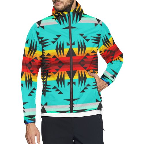 Between the Mountains All Over Print Windbreaker for Men (Model H23) All Over Print Windbreaker for Men (H23) e-joyer