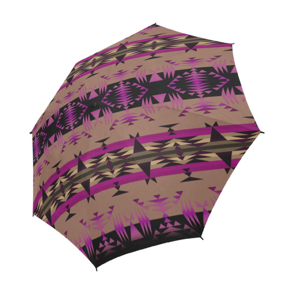 Between the Mountains Berry Semi-Automatic Foldable Umbrella Semi-Automatic Foldable Umbrella e-joyer