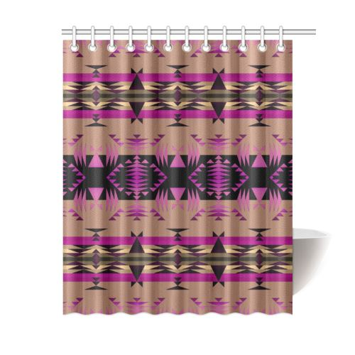 Between the Mountains Berry Shower Curtain 60