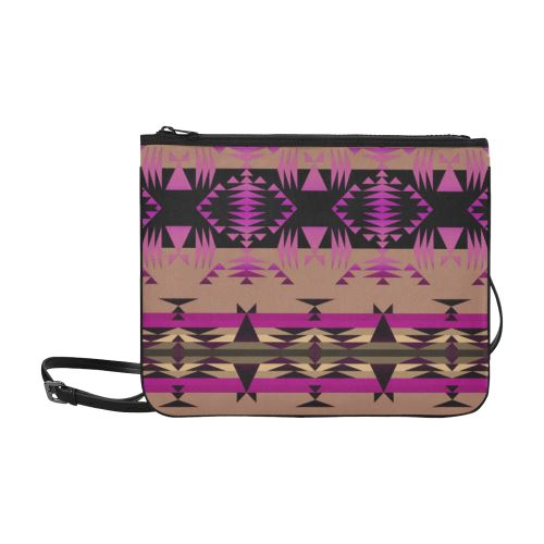 Between the Mountains Berry Slim Clutch Bag (Model 1668) Slim Clutch Bags (1668) e-joyer