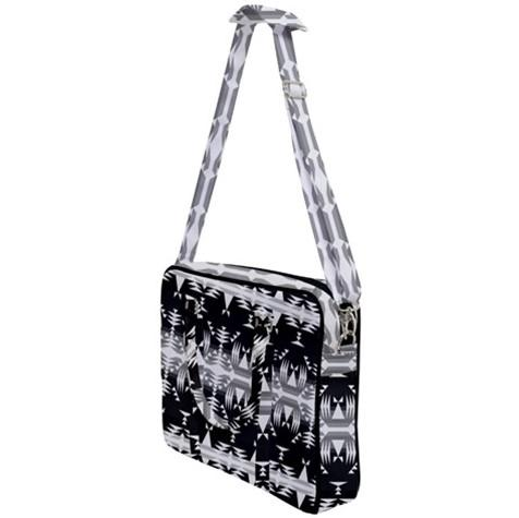 Between the Mountains Black and White Cross Body Office Bag 49 Dzine