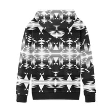 Between the Mountains Black and White Kids' All Over Print Hoodie (Model H38) Kids' AOP Hoodie (H38) e-joyer