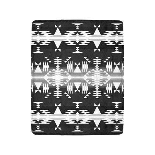 Between the Mountains Black and White Ultra-Soft Micro Fleece Blanket 40