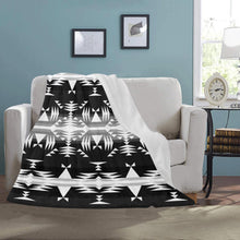 "Between the Mountains Black and White Ultra-Soft Micro Fleece Blanket 50""x60"" Ultra-Soft Blanket 50''x60'' e-joyer"