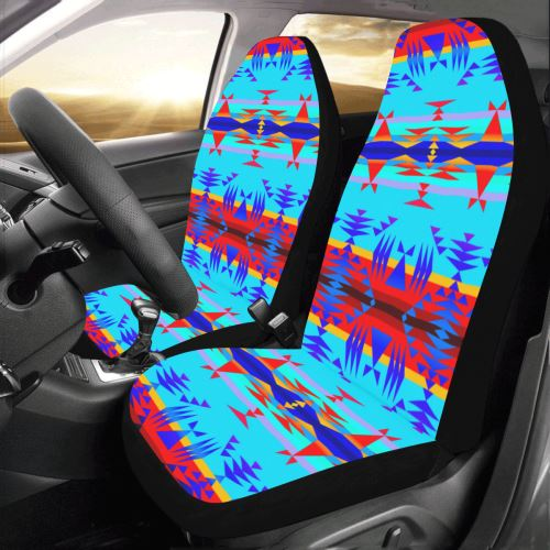 Between the Mountains Blue Car Seat Covers (Set of 2) Car Seat Covers e-joyer