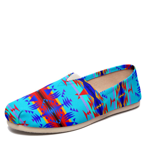 Between the Mountains Blue Casual Unisex Slip On Shoe Herman