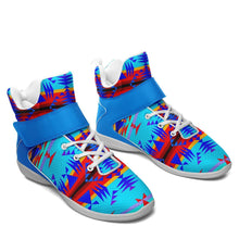 Between the Mountains Blue Ipottaa Basketball / Sport High Top Shoes - White Sole 49 Dzine