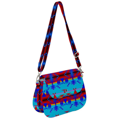 Between the Mountains Blue Saddle Handbag cross-body-handbags 49 Dzine