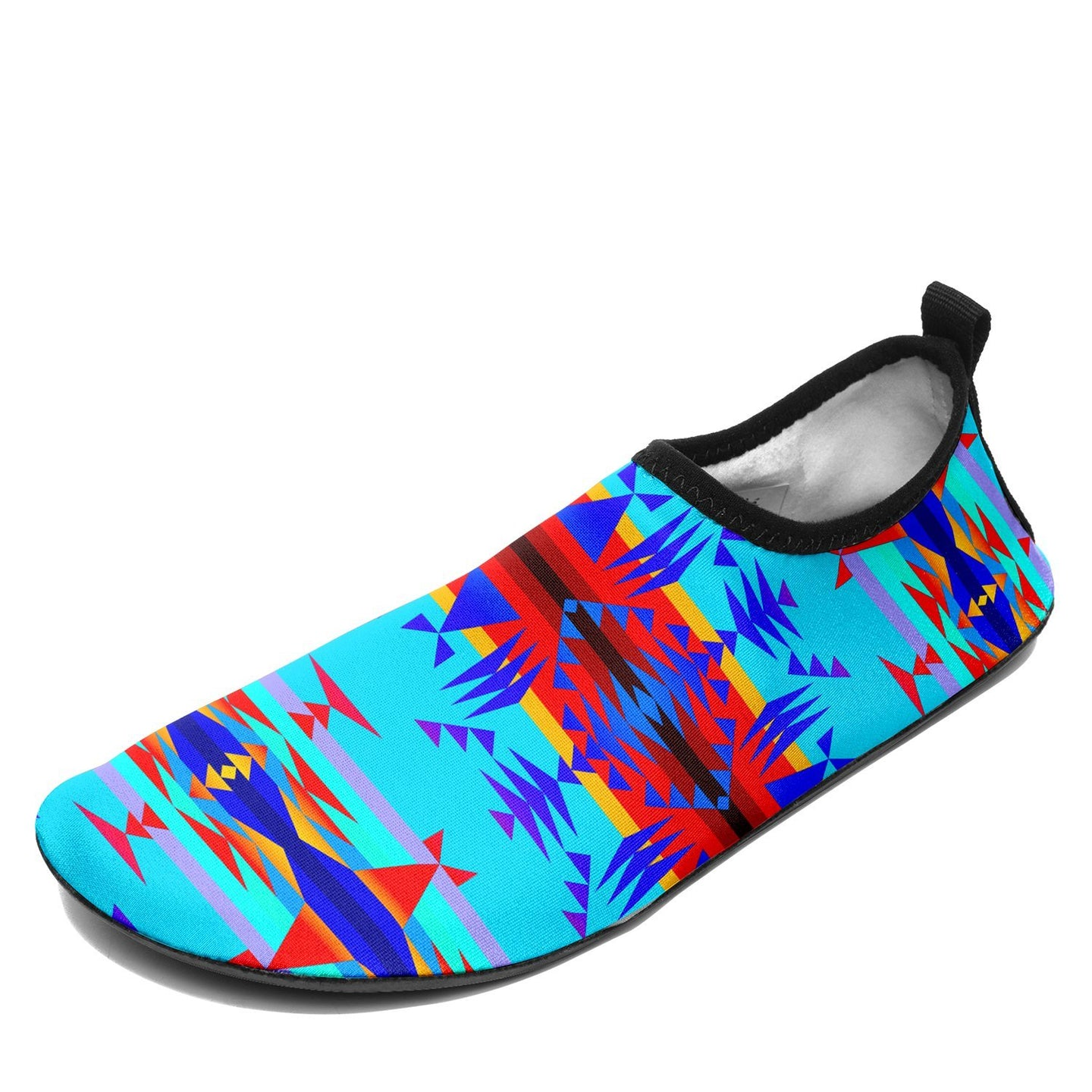 Between the Mountains Blue Sockamoccs Slip On Shoes 49 Dzine