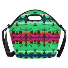 Between the Mountains Deep Lake Neoprene Lunch Bag/Large (Model 1669) Neoprene Lunch Bag/Large (1669) e-joyer