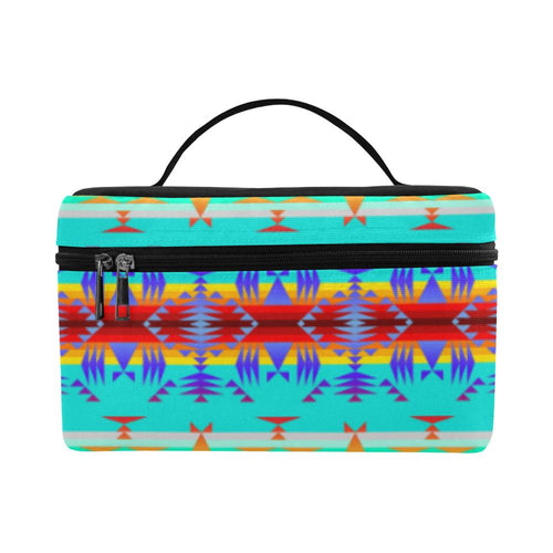 Between the Mountains Fire Cosmetic Bag/Large (Model 1658) Cosmetic Bag e-joyer