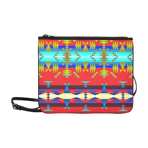 Between the Mountains Greasy Sierra Slim Clutch Bag (Model 1668) Slim Clutch Bags (1668) e-joyer
