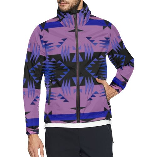 Between the Mountains Moon Shadow All Over Print Windbreaker for Men (Model H23) All Over Print Windbreaker for Men (H23) e-joyer