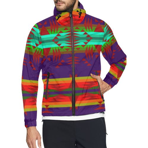Between the Mountains Moon Shadow Sierra All Over Print Windbreaker for Men (Model H23) All Over Print Windbreaker for Men (H23) e-joyer