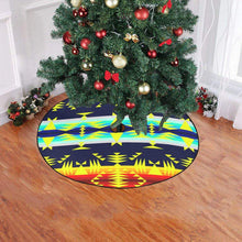 "Between the Mountains Navy Yellow Christmas Tree Skirt 47"" x 47"" Christmas Tree Skirt e-joyer"