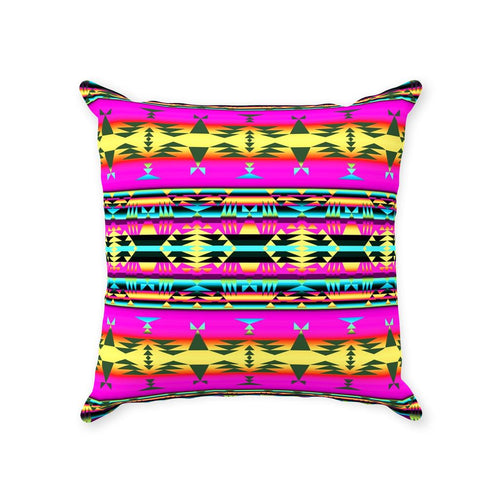 Between the Mountains Pink Throw Pillows 49 Dzine With Zipper Poly Twill 14x14 inch