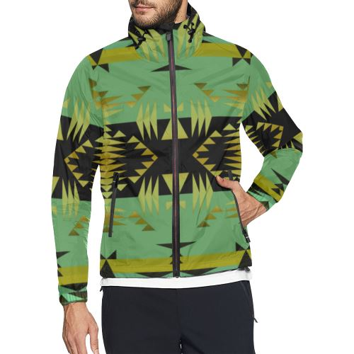 Between the Mountains Sage All Over Print Windbreaker for Men (Model H23) All Over Print Windbreaker for Men (H23) e-joyer