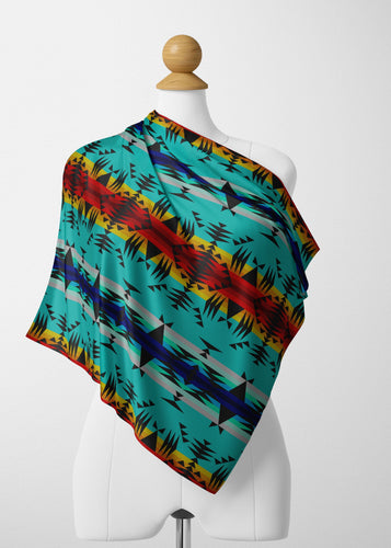 Between the Mountains Satin Shawl Scarf 49 Dzine