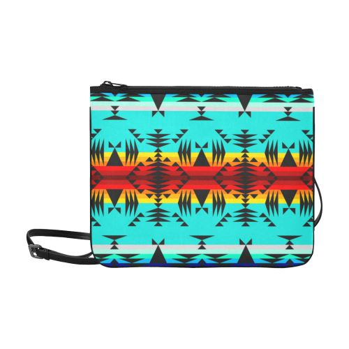 Between the Mountains Slim Clutch Bag (Model 1668) Slim Clutch Bags (1668) e-joyer