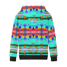 Between the Mountains Spring Kids' All Over Print Hoodie (Model H38) Kids' AOP Hoodie (H38) e-joyer