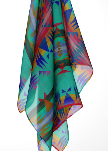 Between the Mountains Spring Large Square Chiffon Scarf fashion-scarves 49 Dzine