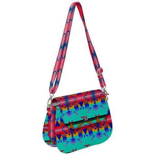 Between The Mountains Spring Saddle Handbag cross-body-handbags 49 Dzine