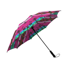 Between the Mountains Sunset Semi-Automatic Foldable Umbrella Semi-Automatic Foldable Umbrella e-joyer
