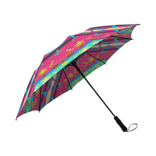 Between the Mountains Sunset Sky Semi-Automatic Foldable Umbrella Semi-Automatic Foldable Umbrella e-joyer