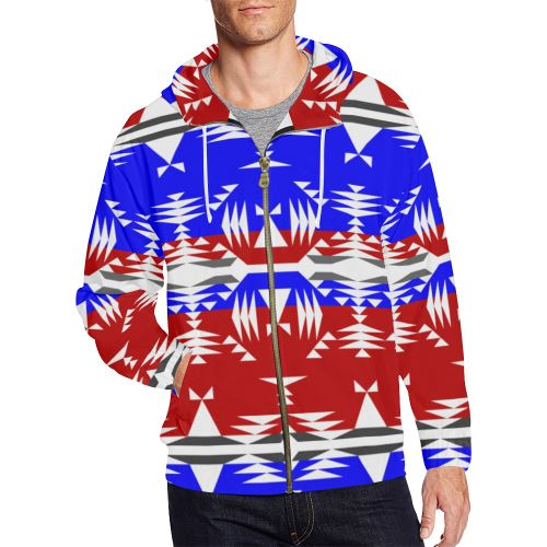 Between The Mountains Veterans All Over Print Full Zip Hoodie for Men/Large Size (Model H14) All Over Print Full Zip Hoodie for Men/Large (H14) e-joyer