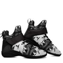 Between the Mountains White and Black Kid's Ipottaa Basketball / Sport High Top Shoes 49 Dzine