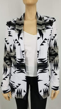 Between the Mountains White and Black Open Front Pocket Cardigan 49 Dzine