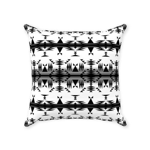 Between the Mountains White and Black Throw Pillows 49 Dzine With Zipper Poly Twill 14x14 inch