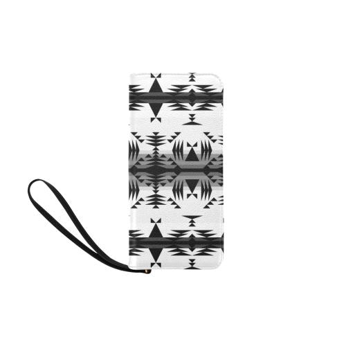 Between the Mountains White and Black Women's Clutch Purse (Model 1637) Women's Clutch Purse (1637) e-joyer
