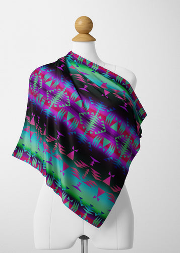 Between the Rocky Mountains Satin Shawl Scarf 49 Dzine